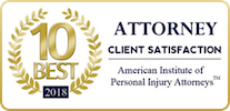 Top 10 Attorney American Institute Of Personal Injury Badge